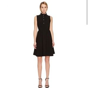 NWT Kate Spade Ruffle Front Crepe Dress Pearl